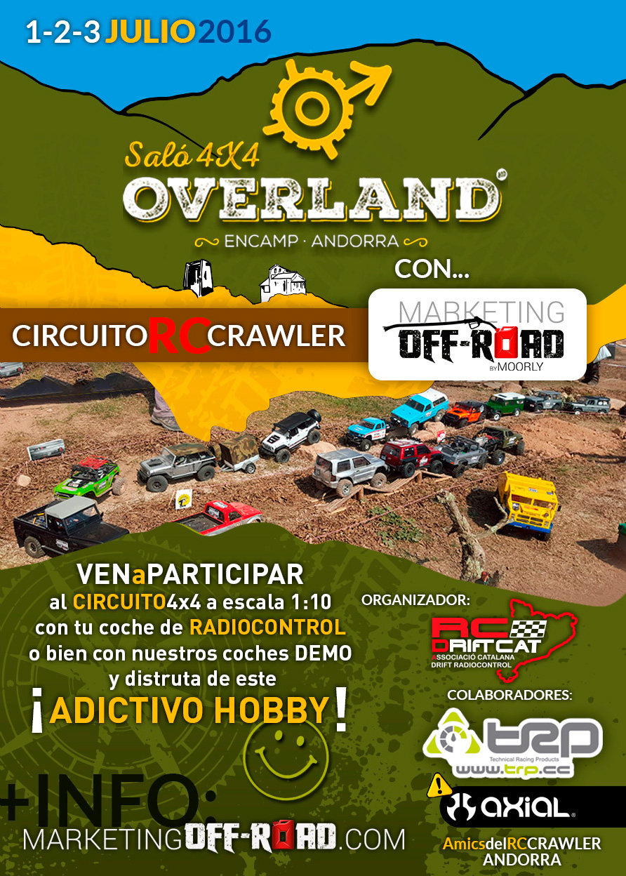 OVERLAND SALÓ 4X4 ANDORRA - Circuito Crawler Marketing Off-Road 1,2,3 JULIO Cartell_RC_OVERLAND_Salo_4x4_Andorra