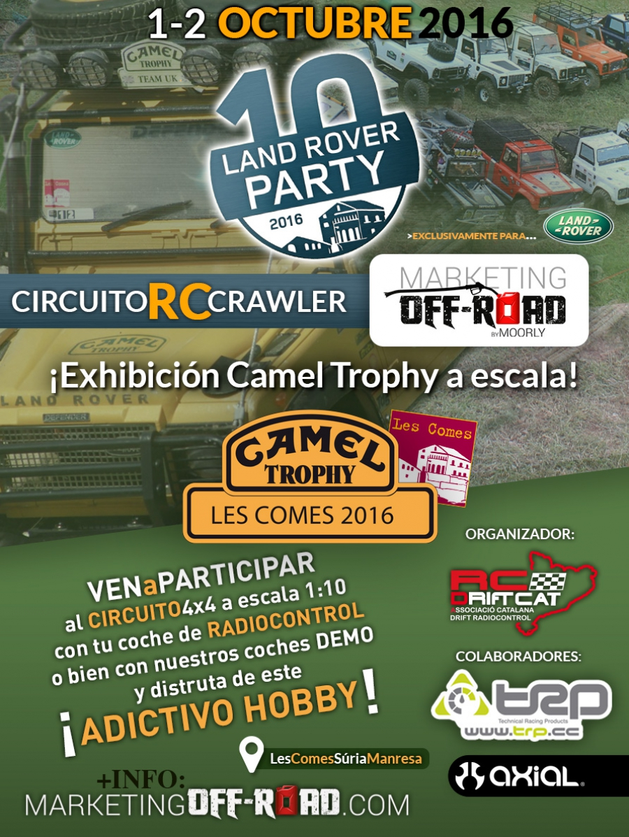 Patrocinamos circuito RC CRAWLER en LAND ROVER PARTY '16