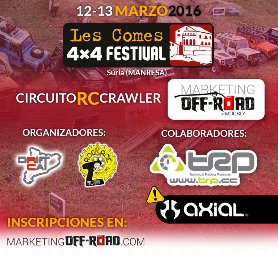 Circuito RC Crawler Marketing Off-Road en Les Comes 4x4 FESTIVAL